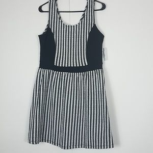 Charming Charlie Dresses - Charming Charlie black white fit and flare dress